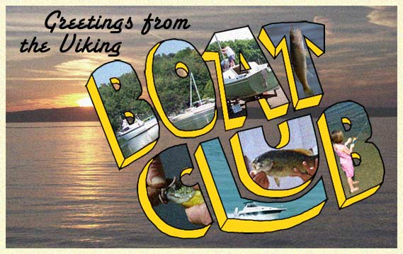 Greetings from the Boat Club old time postcard