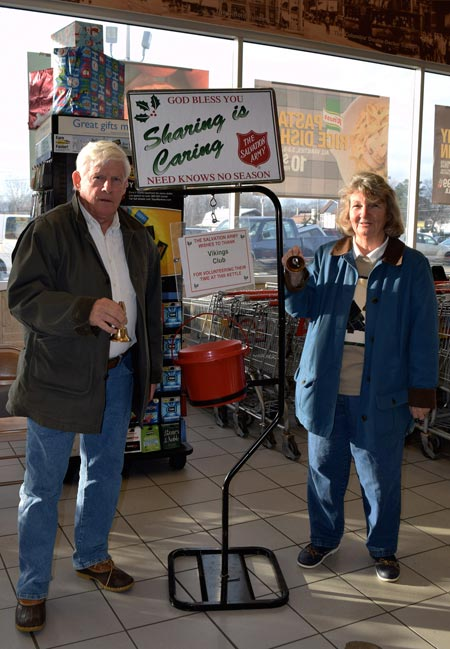 John and Robin Hogan Ring Bells for the Salvation Army